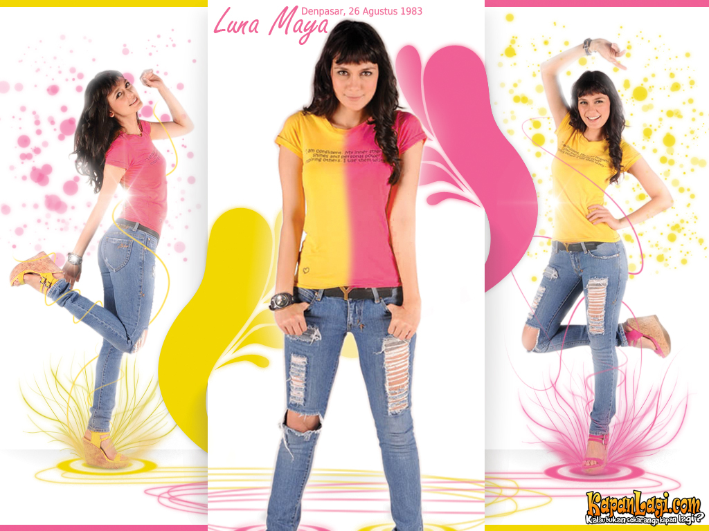 Wallpaper Artis In Hot Luna Maya